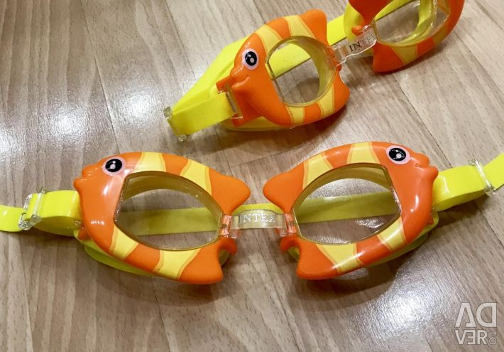 Φωτεινά γυαλιά για κολύμπι (καινούργια)