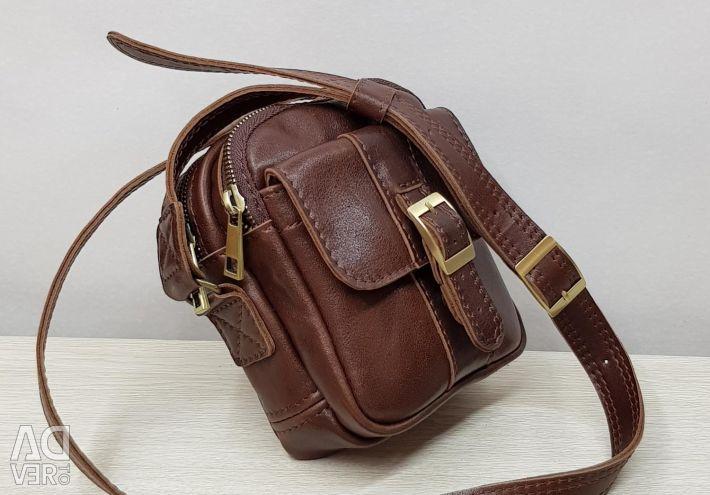 Ανδρική τσάντα από γνήσιο δέρμα