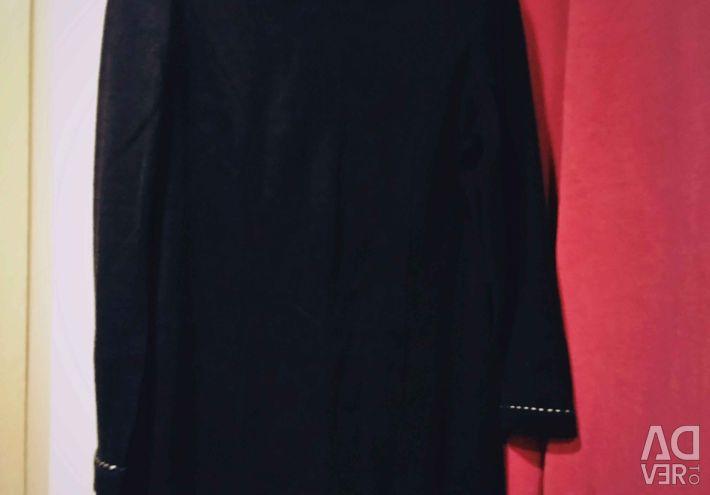 Платье+жилет с серебр. отделкой 48-50 полушерсть