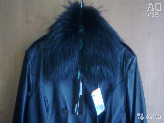 Leatherette coat LE MONIQUE new