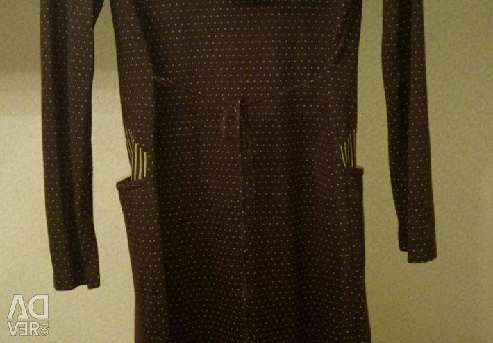 Платье женское с капюшоном р. 52