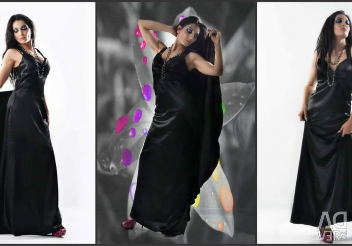Satin formal maxi dress
