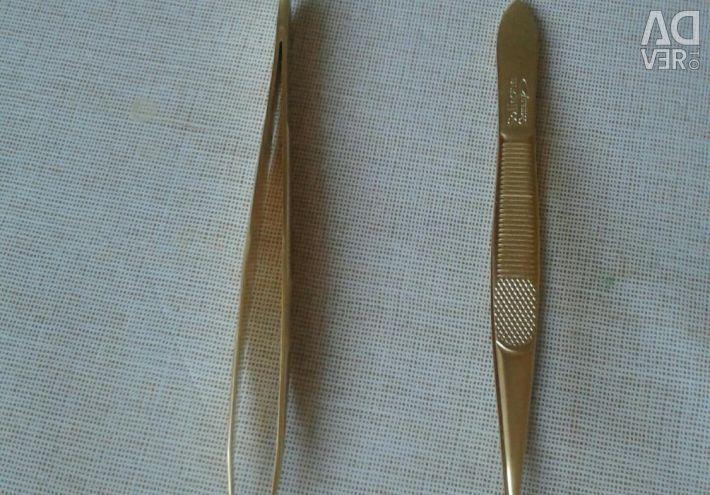 Пинцет для наращивания ресниц новый