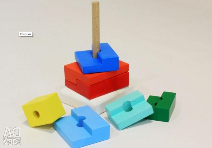 PYRAMID STAGE wooden toy