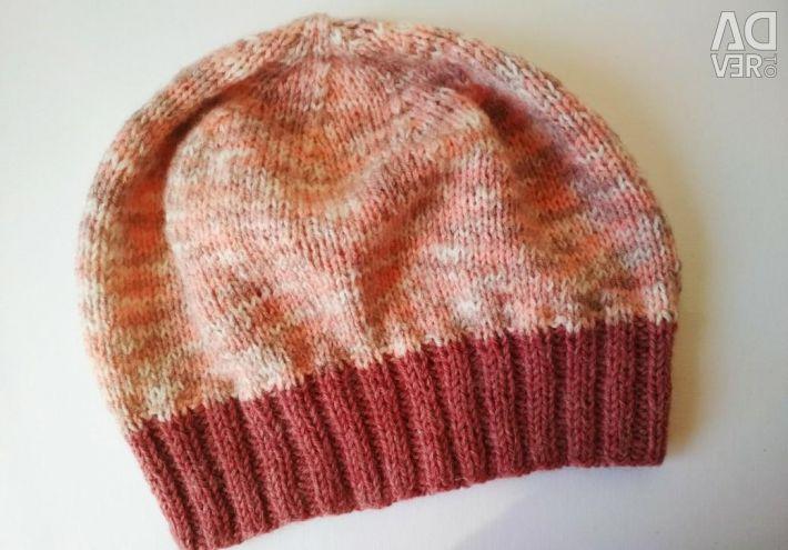 Cap, beret from wool