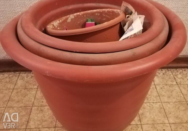 Flower pots set 5 pcs.
