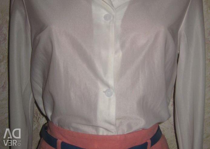 Bluz gömlek, s.44, vintage, hediye olarak kol düğmeleri