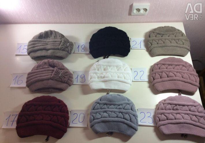 Căști de femei tricotate calde