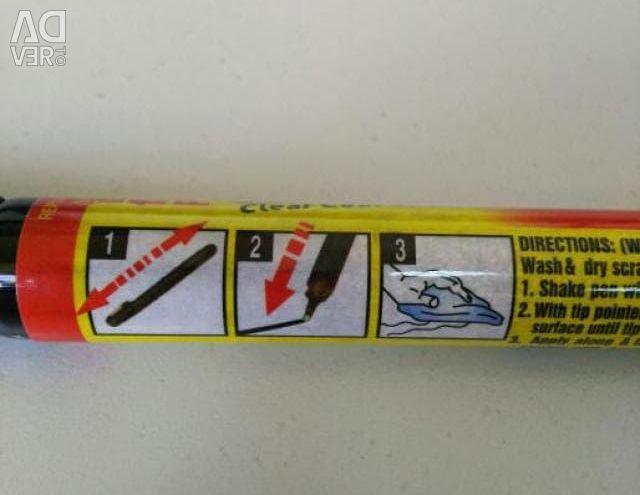 Arabadan çizikleri çıkarmak için kurşun kalem