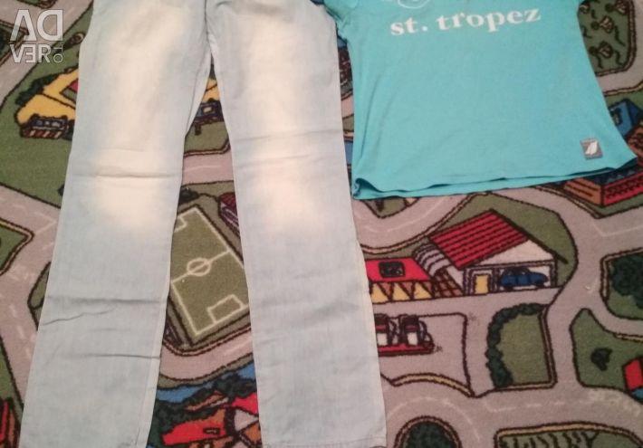 Джинси 100% бавовна + футболка розмір М
