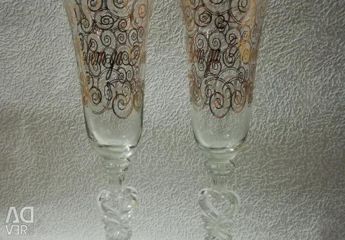Pahare de vin pentru o nuntă