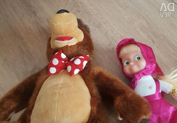 Masha și jucăriile purtătoare. Cânta cântece.