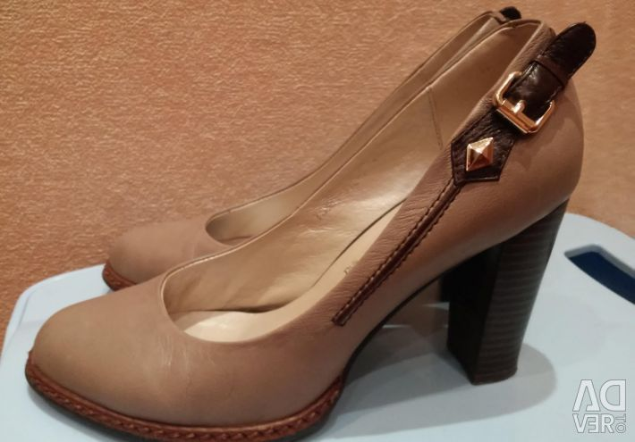 Leather shoes flona, 38,5 size