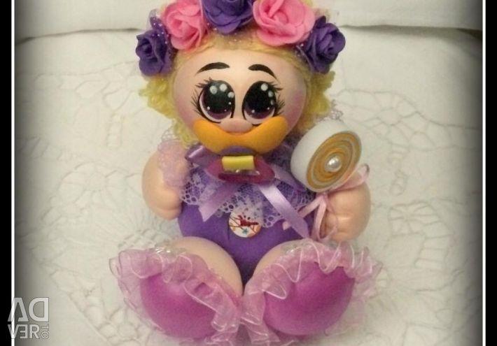 Doll-pups. Baby FACECA from Foamiran