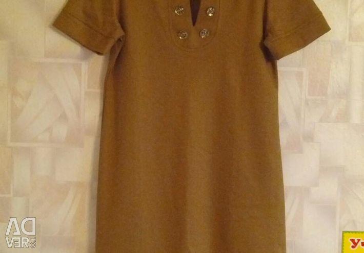 Mustard-colored dress