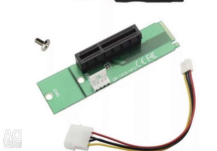 Адаптер райзер m.2 lm-141x-v1.0