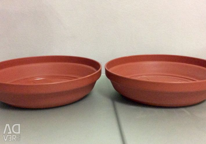 Trays for flower pots. Exchange.