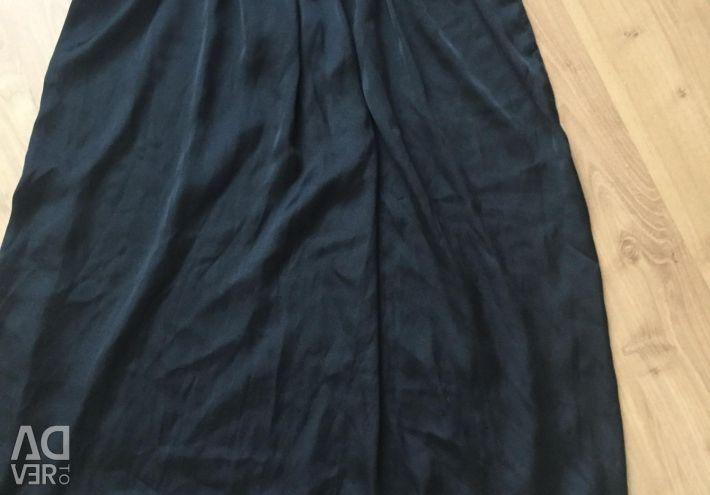 Платье шифон чeрное без подкладки