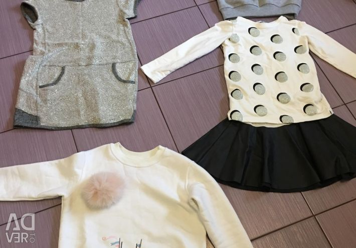 Package of clothes for a girl of 7-8 years