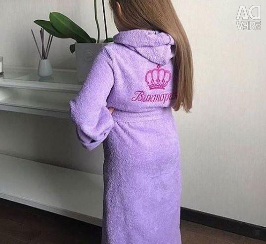 Bathrobe for a girl