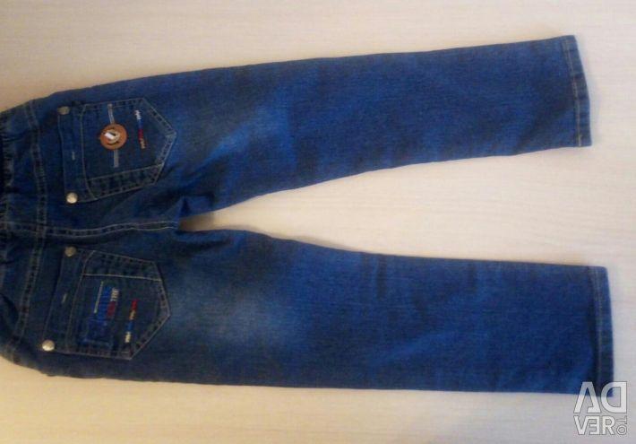 Jeans pantaloni pentru un băiat