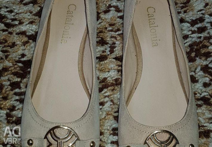 Παπούτσια μπαλέτου γνήσιο δέρμα / βελούδο, 37r, 1 δεύτερο χέρι