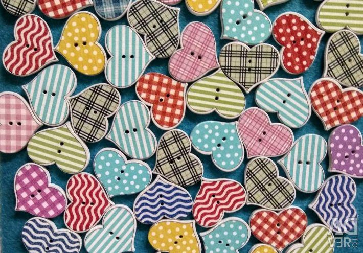 Buttons wooden