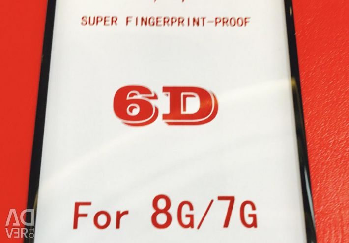 Glass protective 6D for IPhone 6/7/8 / X