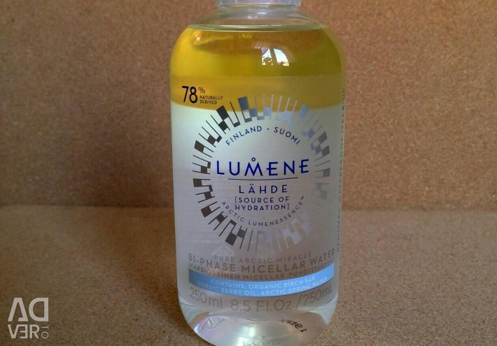 Двофазна мінцелярная вода з маслами LUMENE
