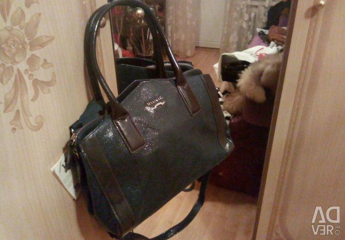 Italian new leather brand bag