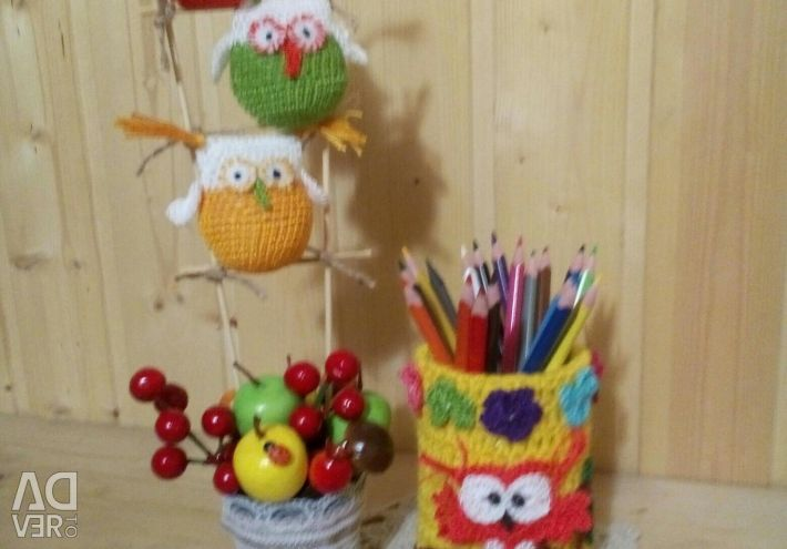 Topiary little owl + pencil holder