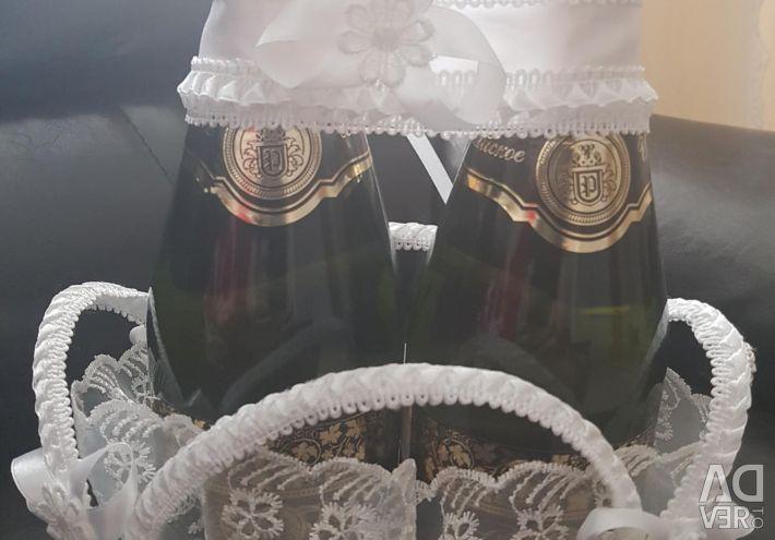 Wedding Champagne Basket