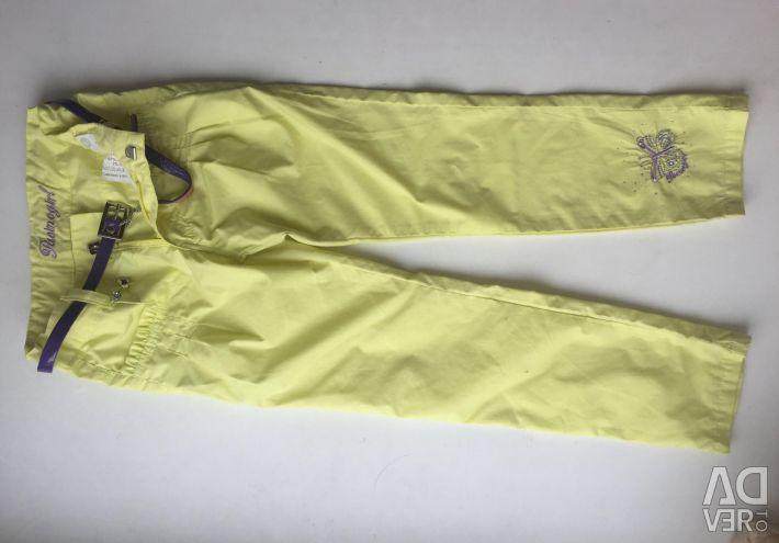 Summer lemon pants for a girl