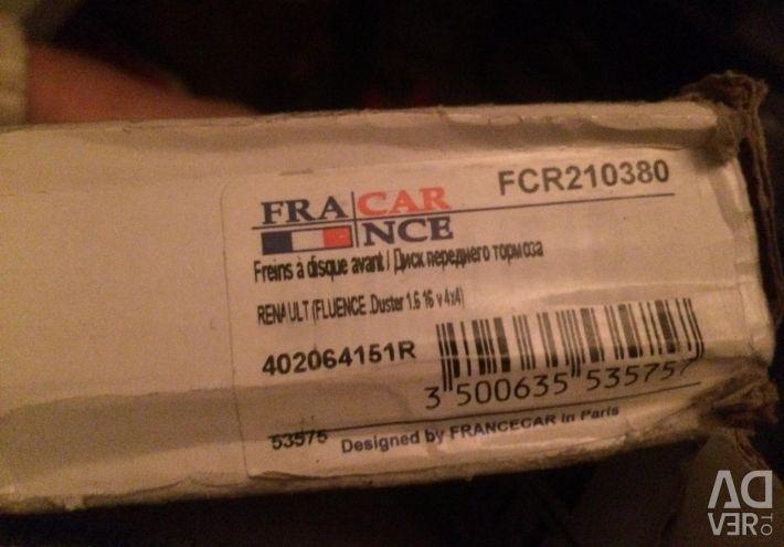 Renault Duster'da ileri 402064151 fren diskleri