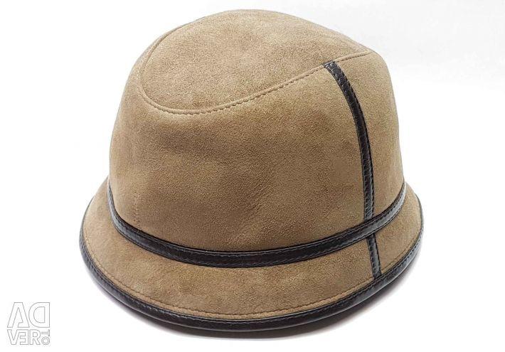 Panama hat men's fur winter (tobacco)