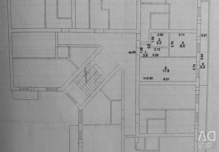 Daire, 1 oda, 39 m²