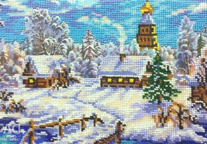 Картинки из бисера на рождество, лучшая мире
