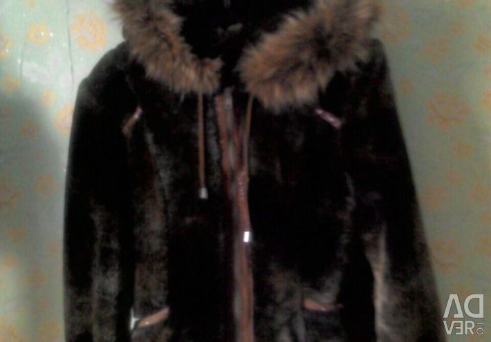 Muton natural fur coat
