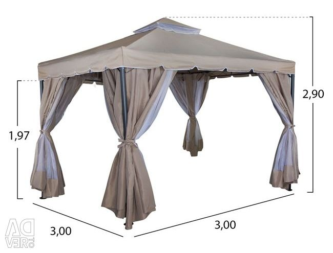 GAZEBO KICK WITH DOUBLE FLOOR AND 3X3 HURT CURTAINS