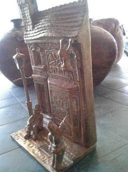 Big and heavy bronze saloon bar.