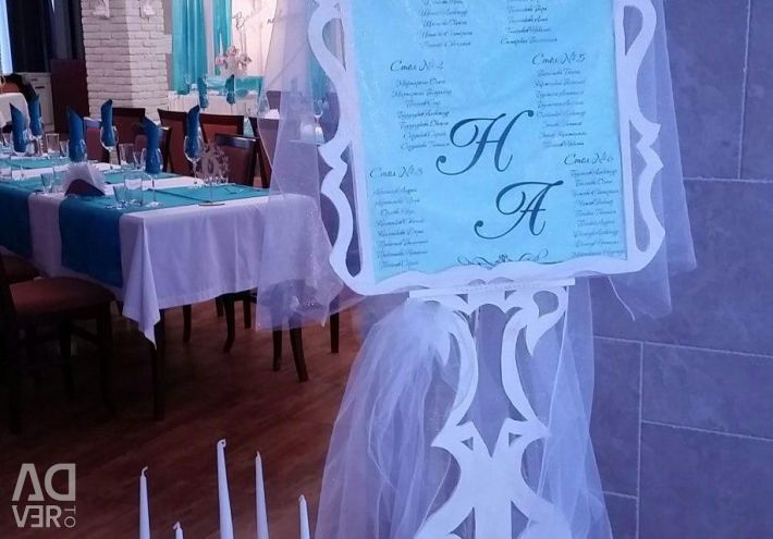 Seating plan. Seating for a wedding