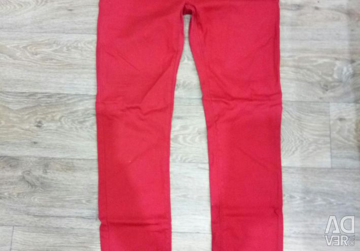 Jeans are red.