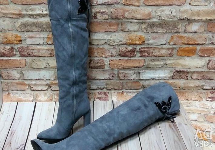 Kadın kışlık botları, süet
