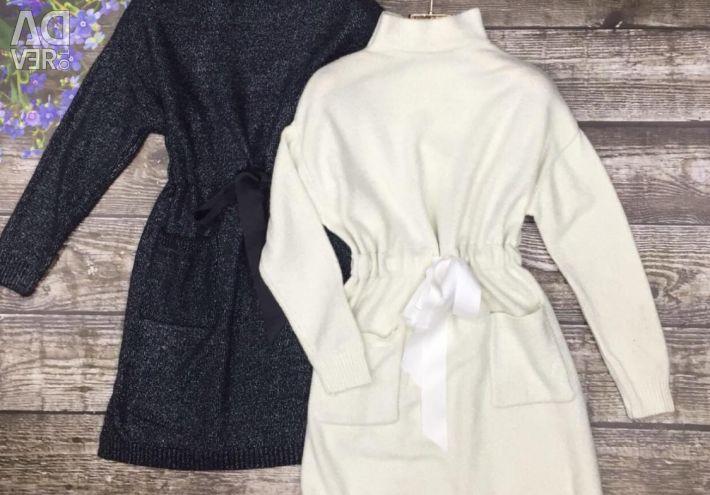 Dress-tunic knitwear with Lurex