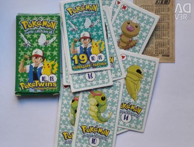 Pokemon Ημερολόγια Ζευγάρια PokeTwins 18 τεμ