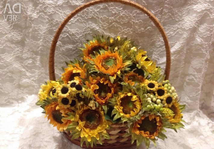 Artificial flowers, sunflowers