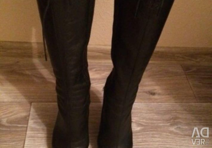 Demi-season boots from galary genuine leather