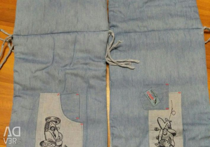 Crib sides in jeans