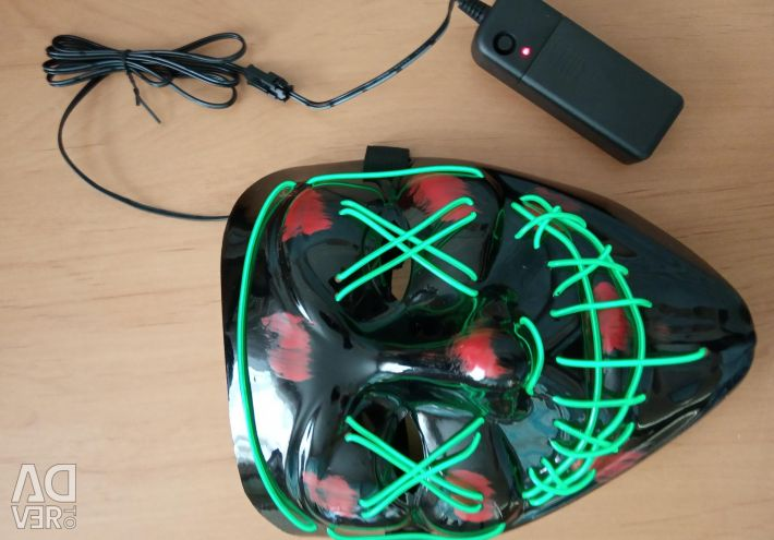 Luminous neon mask new