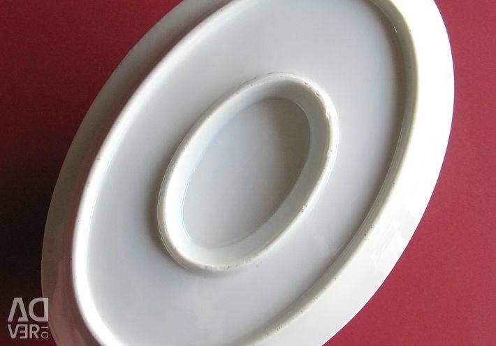 Соусник фарфоровый на блюде